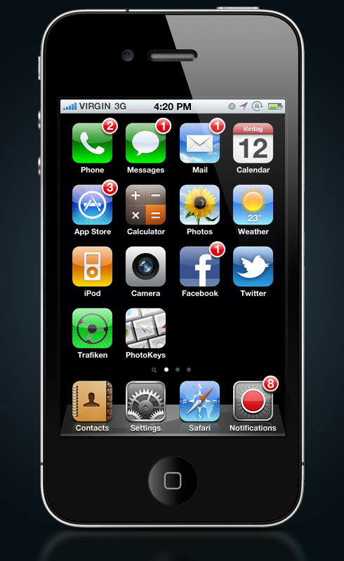 iPhone with notifications